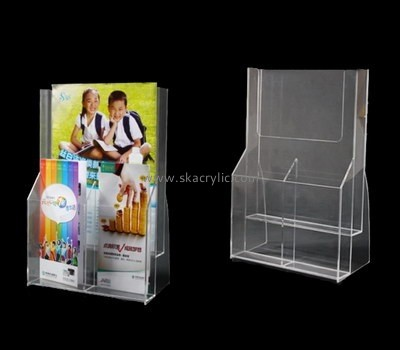 Customize lucite clear pamphlet holder BH-1722
