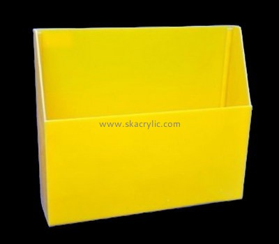 Customize yellow literature holder BH-1748