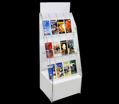 Customize white plastic brochure holder BH-1783