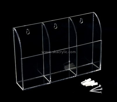 Customize lucite hanging brochure holder BH-1838
