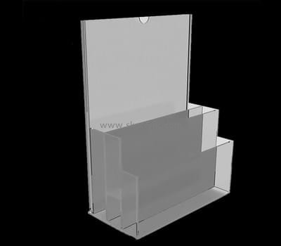 Customize lucite vertical brochure holder BH-1858