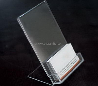 Customize acrylic clear business card holder BH-1885