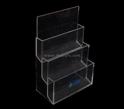 Customize lucite tiered brochure holder BH-1892