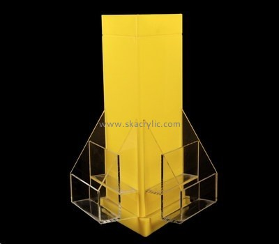 Customize lucite tabletop literature rack BH-1896