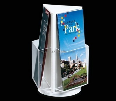 Customize lucite rotating brochure display stand BH-1908