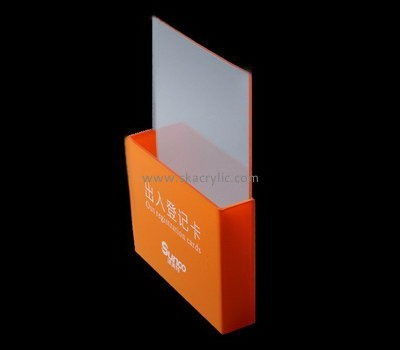 Customize lucite pocket brochure holder BH-1914