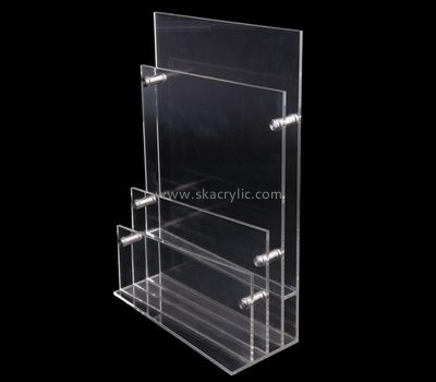 Customize perspex 3 pocket brochure holder BH-1919