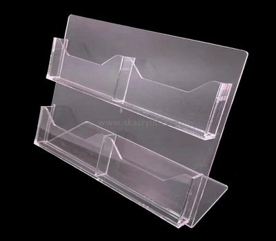 Customize acrylic leaflet and business card holder BH-1933