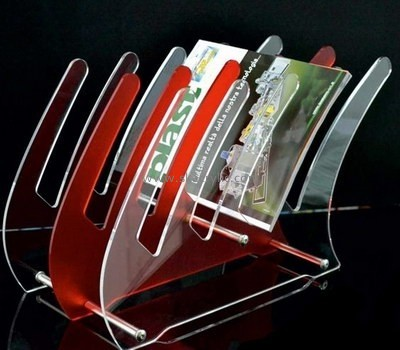 Customize acrylic magazine shelf holder BH-1947