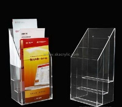 Customize plexiglass brochure holder design BH-1990