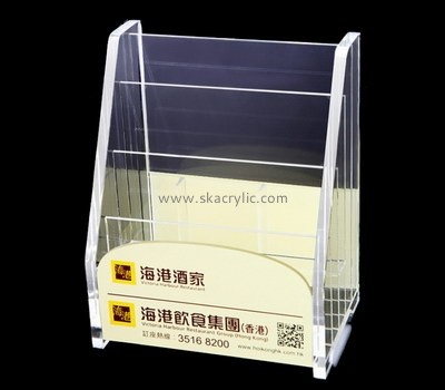 Customize plexiglass a5 freestanding leaflet holder BH-2011