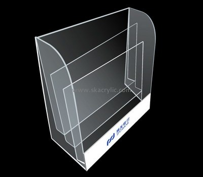 Customize lucite table top brochure rack BH-2015