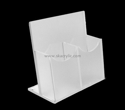 Customize plexiglass standing brochure holder BH-2057