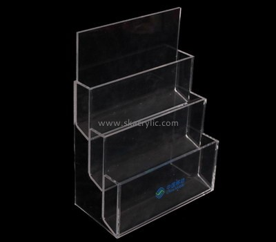 Customize clear 3 tier brochure holder BH-2058
