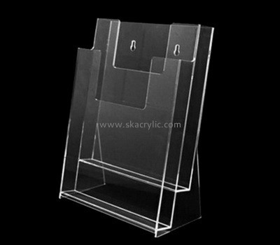 Customize clear 2 pocket brochure holder BH-2064
