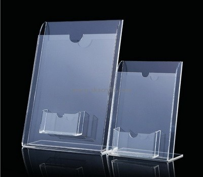 Customize acrylic brochure holder with business card pocket BH-2067
