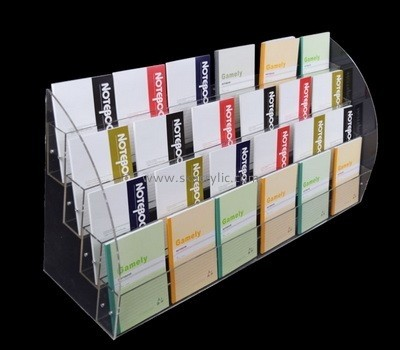 Customize lucite multi pocket brochure holder BH-2070
