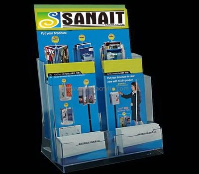 Plexiglass brochure holder with business card pocket BH-2127