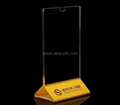 Table top clear acrylic sign holder SH-600