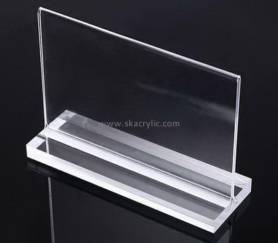 Customize table top clear acrylic sign holder SH-625