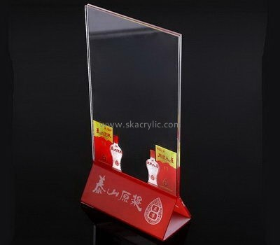 Customize table top acrylic A4 sign holder SH-623