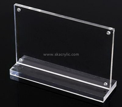 Customize table top clear acrylic magnet sign SH-638