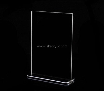 Custom clear acrylic menu holder SH-658