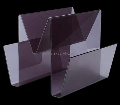Custom 3 compartment acrylic magazine rack BH-2130