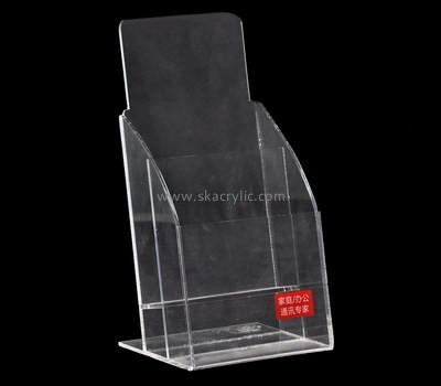 Custom tabletop acrylic pamphlet holder BH-2132