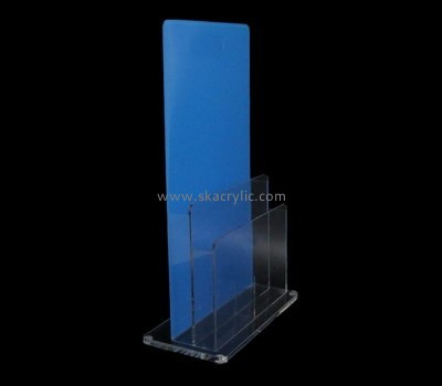 Custom table top acrylic pamphlet holder BH-2146