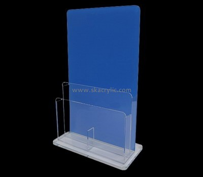 Custom table top vertical acrylic pamphlet holder BH-2157
