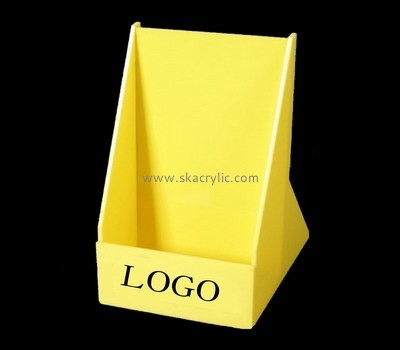 Custom yellow acrylic pamphlet holder BH-2168