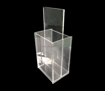 Custom table top vertical acrylic pamphlet holders BH-2171