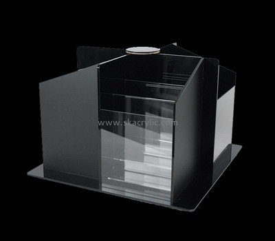 Custom 4 sided table top acrylic literature holders BH-2173