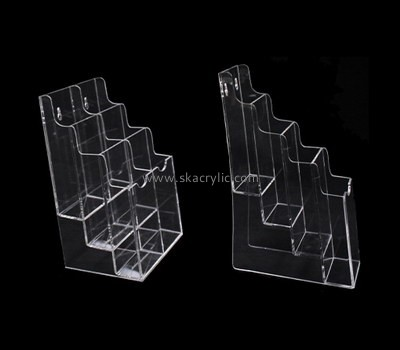 Custom wall tiered clear acrylic pamphlet holders BH-2179
