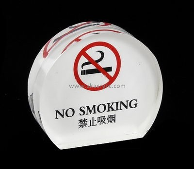 Custom acrylic block no smoking sign BS-174