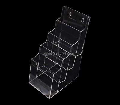 Custom 4 tiers wall clear acrylic pamphlet holder BH-2202