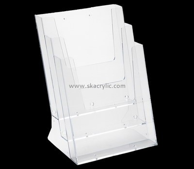 Custom wall 3 pockets acrylic pamphlet holders BH-2208