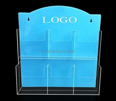 Custom wall 6 pockets acrylic pamphlet holders BH-2209