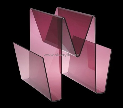 Custom w shape acrylic magazine holders BH-2211