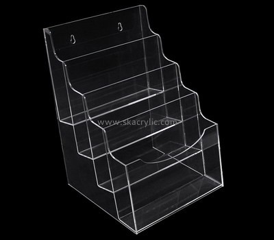 Custom wall 4 tiers clear acrylic literature holder BH-2223