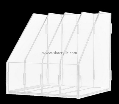 Custom table top 4 grids acrylic file holders BH-2234
