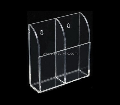 Custom wall 2 pockets acrylic brochure holders BH-2239
