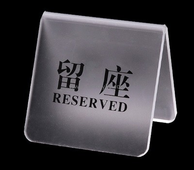 Custom acrylic table reserved sign SH-677