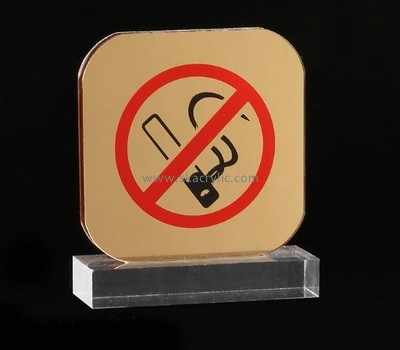 Custom table top acrylic no smoking sign SH-700